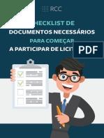 check list licitaçoes
