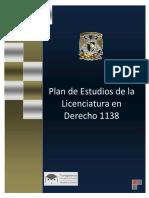 Plan de Estudios de la Licenciatura en Derecho
