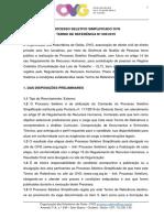 Tr 005 2019 Termo de Referencia Tecnico Administrativo Grc Av Goias