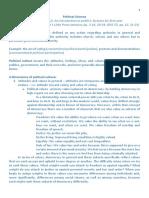Political Science Fact Sheet