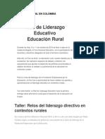 Educación Rural en Colombia