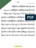Alma - Partitura Para Duas Flautas e Jogo de Sinos Educacao Musical Jose Galvao SL