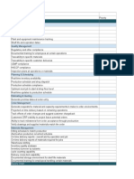Manufacturing ERP Requirements Template