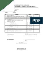 Laporan Penggunaan Rt. 04 Rw.07