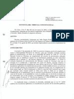 SENTENCIA TC OTORGAMIENTO DE ESCRITURA