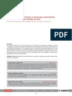 Adaptacion Del Curriculum Al Alumnado Universitario Con Dissca Un Estudio de Caso