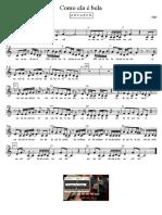 Como Ela e Bela - Agir - Partitura Educacao Musical Jose Galvao CL