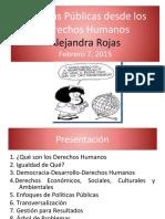 Políticas públicas sobre DDHH