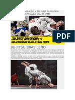 JIU-JITSU BRASILEÑO Y TÚ. UNA FILOSOFÍA QUE VA MÁS ALLÁ DEL TATAMI..doc