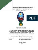Trabajo de investigación policía boliviana