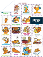 Garfield Daily Routines Posterflash Cards Set Flashcards Fun Activities Games Picture Dictionari 89928
