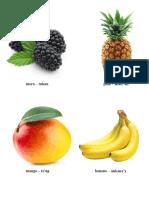 Frutas en Kiche y Español