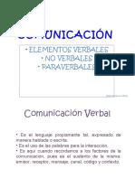 La Comunicación y los Elementos verbales y paraverbales