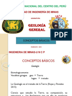 MINAS Conceptos Básicos Geologia Minas