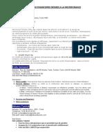 Institurions de Micro Finance