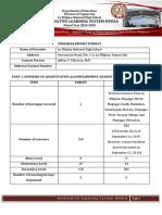 Narrative Report for BP-OSA