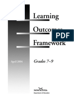 Grade 7 - 9 Learning Outcomes