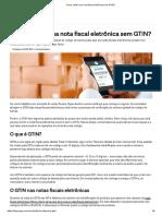 Como Emitir Uma Nota Fiscal Eletrônica Sem GTIN
