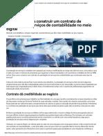 Como Fazer Para Construir Um Contrato de Prestação de Serviços de Contabilidade No Meio Digital