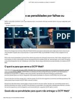 DCTF Web_ Quais as Penalidades Por Falhas Ou Omissões