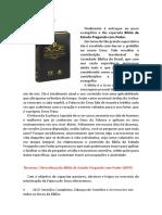 SINOPSE DA BÍBLIA DE ESTUDO PREGANDO COM PODER