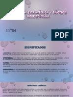 Logística Estratégica y Táctica Operacional