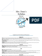 dean  2019-20 syllabus