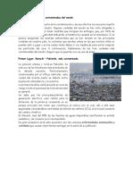 Las Tres Ciudades Más Contaminadas Del Mundo