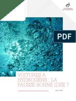 Voitures a Hydrogene La Fausse Bonne Idee