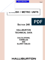 Calculations & Formulas English Metric