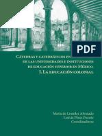 I. La Educación Colonial