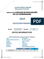 registro auxiliar primaria
