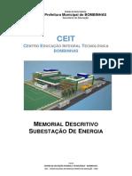 Memorial descritivo - Subestação 500KVA.pdf