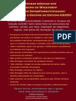Regras de Convivência GADEC-7