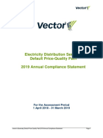 Vector Electricity Distribution Compliance Statement 2019