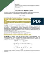 Lista de Exercícios - Polímeros e Tintas (Gabarito Das Objetivas)