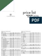 Price List Venus