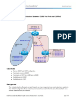 CCNPv7 ROUTE Lab4-3 Redistribution EIGRP for IPv6 and OSPFv3 Student