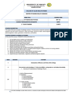Fundamentals of Radiologic Physics Course Outline