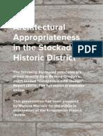 Architectural Appropriateness in the Stockade Historic District