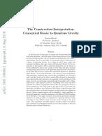 The Construction Interpretation- Conceptual Roads to Quantum Gravity