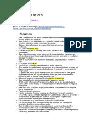 Caso Práctico De Afa Docx Marketing Al Por Menor