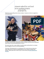 A Police Department Asked for Cat Food Instead of Cash for Parking Tickets