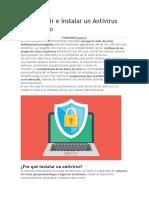 Cómo Elegir e Instalar Un Antivirus Paso a Paso