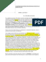 TRANSCRIPCIÓN DE UNA CONFERENCIA DICTADA POR ESTANISLAO ZULETA EN LA UNIVERSDIDAD LIBRE