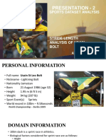Usain Bolt - Stride Length Analysis
