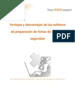 Ventajas y desventajas de los software de preparación de fichas de datos de seguridad