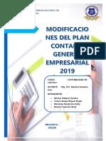 Modificaciones Del Plan Contable General Empresarial 2019