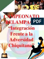 PROGRAMA de Campeonato Relampago de Integracion Frente a La Adversidad Chiquitana