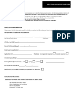 UTD Cover Form for Mailing